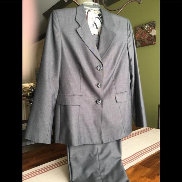 dressbarn Jackets & Blazers - Dress barn gray pant suit